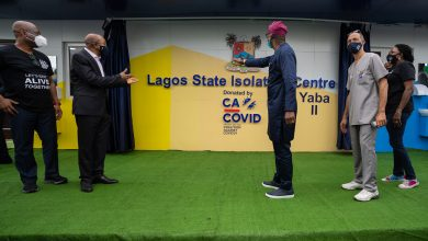 Photo of GOVERNOR SANWO-OLU COMMISSIONS ISOLATION CENTRE YABA II DONATED BY CACOVID ON SUNDAY, JUNE 28, 2020.