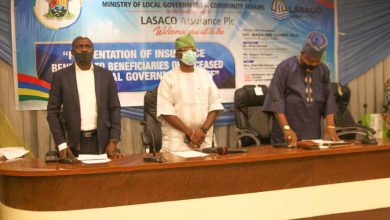 Photo of PRESENTATION OF INSURANCE BENEFITS TO THE FAMILIES OF DECEASED STAFF OF LOCAL GOVERNMENT AND STATE UNIVERSAL BASIC EDUCATION AT ALAUSA, IKEJA