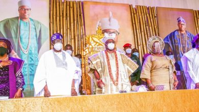 Photo of GOV. SANWO-OLU, TINUBU, OONI OF IFE AT CORONATION OF ONIRU OF IRULAND, OBA OMOGBOLAHAN LAWAL, ABISOGUN II, ON SUNDAY, SEPTEMBER 6, 2020