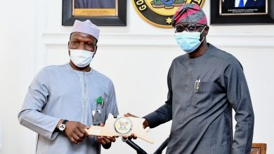 Photo of GOV. SANWO-OLU RECEIVES MANAGEMENT OF FAAN LED BY THE MANAGING DIRECTOR/CE, CAPT. RABIU YADUDU AT LAGOS HOUSE, ALAUSA, IKEJA, ON TUESDAY, SEPTEMBER 1, 2020