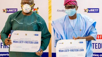 Photo of GOV SANWO-OLU AT THE OFFICIAL LAUNCH OF THE LAGOS STATE EMPLOYMENT TRUST FUND (LSETF) IN PARTNERSHIP WITH FIRST BANK OF NIGERIA LIMITED (₦5BN LSETF-FIRSTEDU LOAN) ON FRIDAY, SEPTEMBER 25, 2020.
