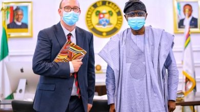 Photo of NEW BRITISH DEPUTY HIGH COMMISSIONER, BEN LLEWELLYN-JONES MEETS GOV. SANWO-OLU AT LAGOS HOUSE, ALAUSA, IKEJA, ON WEDNESDAY, SEPTEMBER 23, 2020