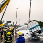 LASEMA RESCUE OPERATION FROM FALLEN PETROL TANKER