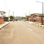 Newly commissioned Onilekere Street as part of the 114 Roads in Ikeja Local Government by Governor Akinwunmi Ambode