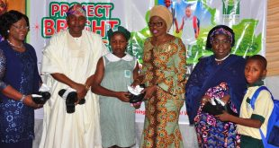 Photo of WIFE OF LAGOS STATE GOVERNOR, MRS. BOLANLE AMBODE, DEPUTY GOV. ADEBULE AT LAUNCH OF PROJECT BRIGHT STEPS AT EVENT CENTRE, AGIDINGBI, IKEJA