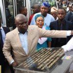 GOV. AMBODE COMMISSIONS NEWLY BUILT PEDESTRIAN BRIDGE AT OJOTA, LAGOS