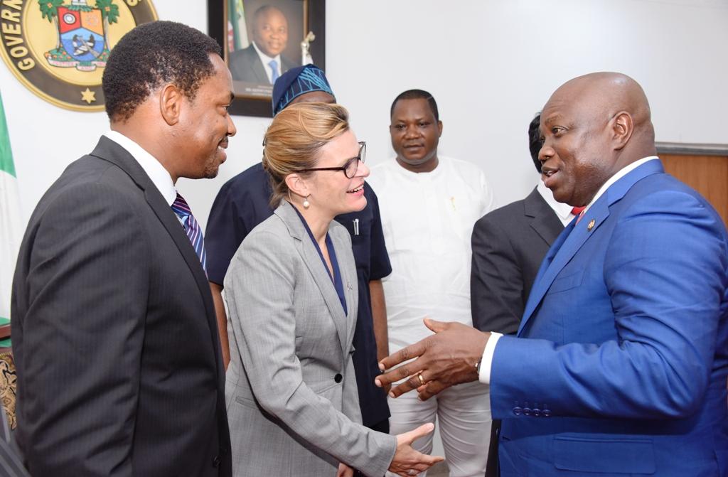 Photo of GOV. AMBODE RECEIVES BRITISH DEPUTY HIGH COMMISSIONER, LAURE BEAUFILS AT LAGOS HOUSE, IKEJA
