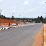 Newly constructed Epe-Itokin Road, Epe with walkway, street light and drainage system built by the Lagos State Government.