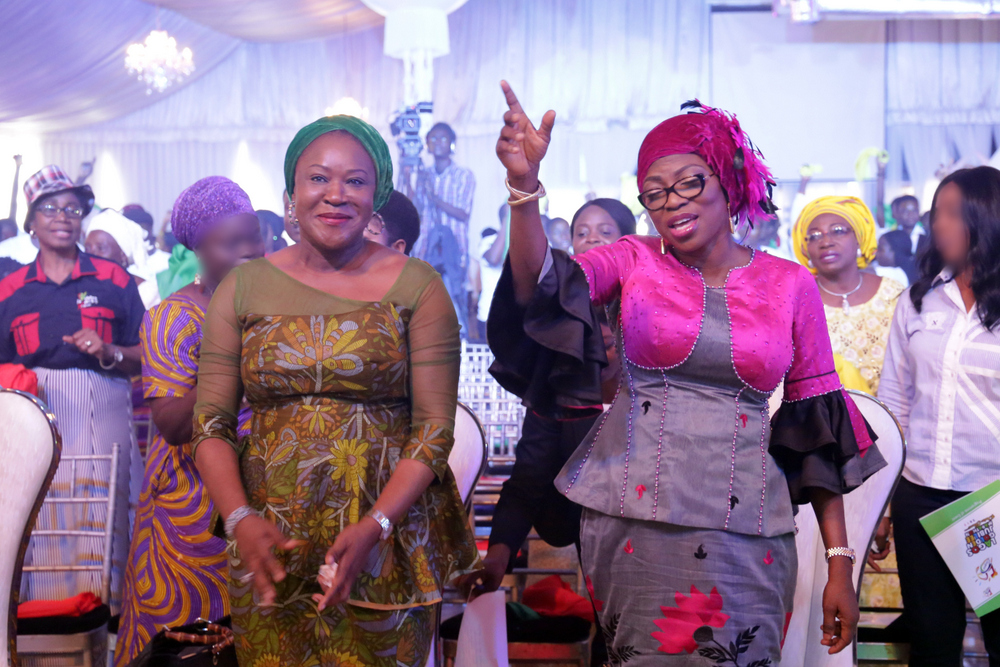 Photo of WIFE OF THE GOVERNOR , MRS. BOLANLE AMBODE AT THE GOLDEN JUBILEE MARATHON PRAISE CONCERT, MARKING 50 YEARS OF LAGOS STATE