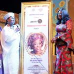 WIFE OF LAGOS STATE GOVERNOR, MRS. BOLANLE AMBODE RECEIVES AWARDS AT PRESENTATION OF STAGE PLAY-TRAVAILS OF ERELU KUTI, THE QUEEN MOTHER