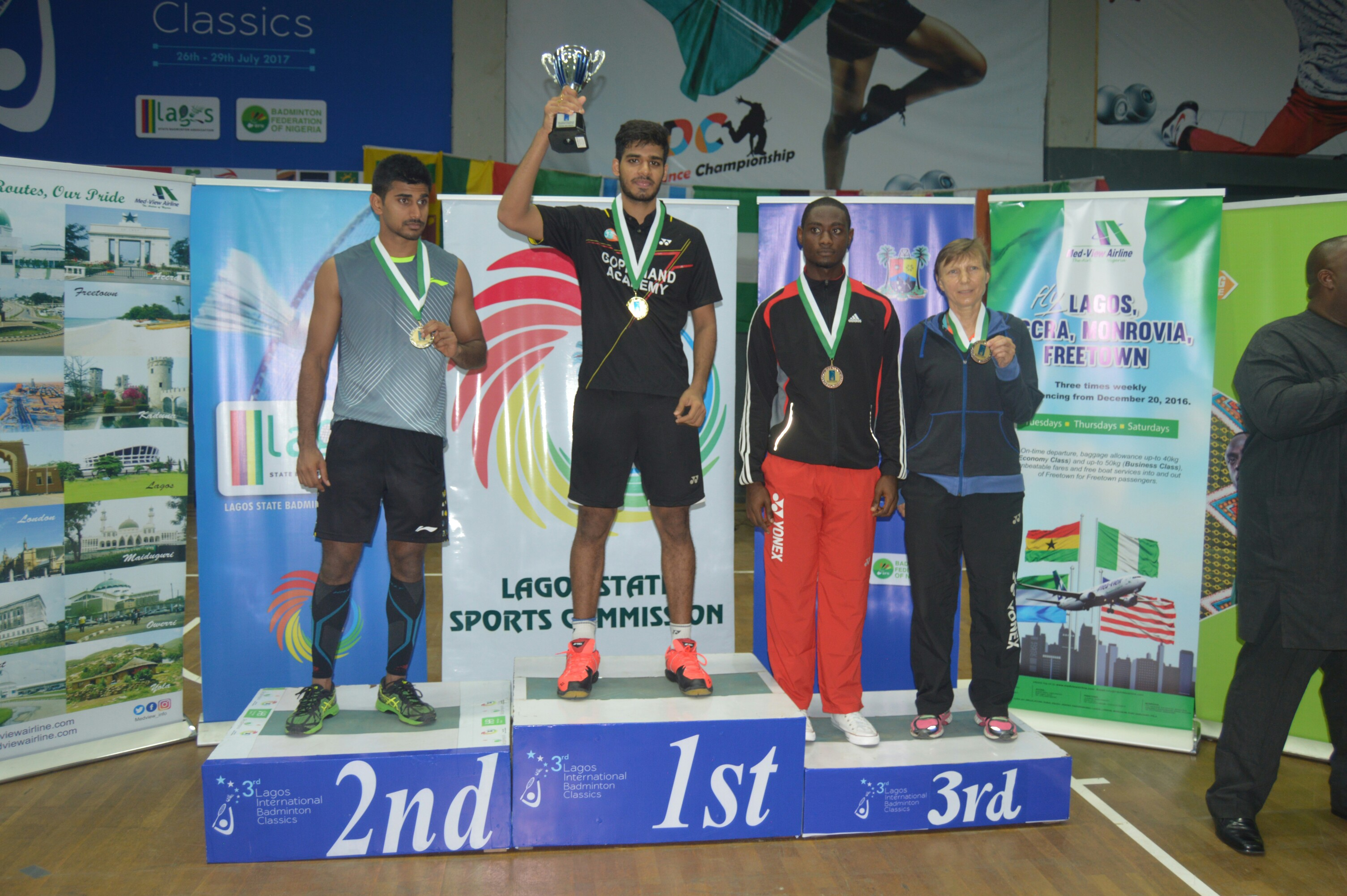 Photo of YADAV WINS LAGOS INTERNATIONAL BADMINTON CLASSICS