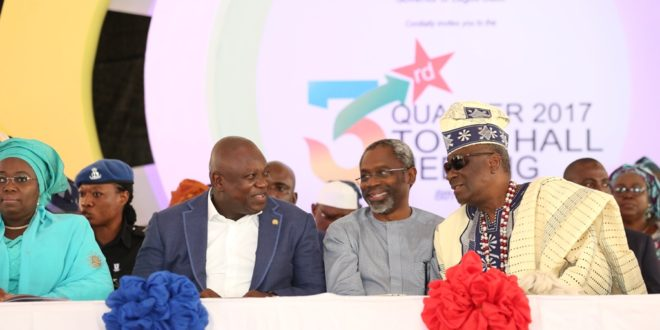 Image result for Ambode townhall meeting in Ajah, Badore, Langbasa residents