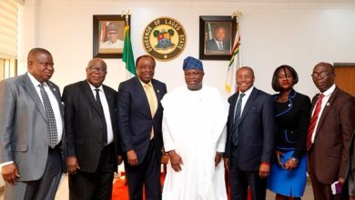 Photo of GOV. AMBODE RECEIVES UNIVERSITY OF LAGOS ALUMNI ASSOCIATION AT LAGOS HOUSE, IKEJA