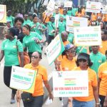 WALK FOR PEACE IN LAGOS TO COMMEMORATE THE 2017 INTERNATIONAL DAY OF PEACE