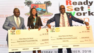 Photo of AMBODE GIVES N10MILLION SEED FUND TO BEST THREE READY.SET.WORK GRADUATES