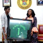 FIRST LADY OF LAGOS STATE, DR. (MRS) IBIJOKE SANWO-OLU RECEIVES ASISAT OSHOALA FOUNDATION AT LAGOS HOUSE, IKEJA