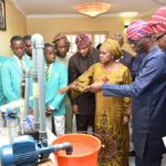 GOV. SANWO-OLU RECEIVES NATIONAL WINNERS OF THE 2019 NIGERIAN STOCKHOLM JUNIOR WATER PRIZE AT LAGOS HOUSE, MARINA, ON FRIDAY, JULY 19, 2019