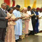 GOV SANWO-OLU SWEARS-IN NEWLY APPOINTED COMMISSIONERS AND SPECIAL ADVISERS AT ADEYEMI BERO AUDITORIUM, SECRETARIAT ALAUSA, ON TUESDAY, AUGUST 20, 2019