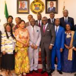 GOV. SANWO-OLU RECEIVES MANAGEMENT TEAM OF LAGOS CHAMBER OF COMMERCE AND INDUSTRY AT LAGOS HOUSE, ALAUSA, IKEJA
