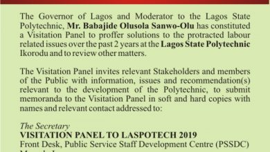 Photo of Submission of Memoranda to the Visitation Panel to Lagos State Polytechnic, LASPOTECH, Ikorodu