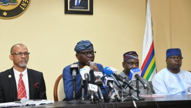 Photo of GOV SANWO-OLU BRIEFS JOURNALISTS ON THE FIRST CASE OF CORONAVIRUS IN THE STATE AT LAGOS HOUSE, MARINA, ON FRIDAY, FEBRUARY 28, 2020