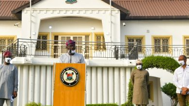 Photo of GOV. SANWO-OLU ADDRESSES LAGOSIANS ON COVID-19 UPDATE AND LOCKDOWN AT LAGOS HOUSE, MARINA ON WEDNESDAY, APRIL 29, 2020