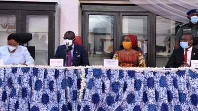 """Photo of GOV. SANWO-OLU, FIRST LADY OF LAGOS STATE AT THE 6TH LAGOS CORPORATE ASSEMBLY """"BOS MEETS BUSINESS"""" AT LAGOS HOUSE, IKEJA, ON WEDNESDAY, JULY 29, 2020"""