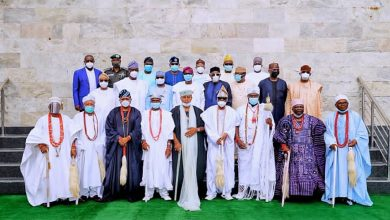 Photo of GOV. SANWO-OLU AT MEETING OF SOUTHWEST GOVERNORS, TRADITIONAL RULERS, PRESIDENTIAL DELEGATION HELD AT LAGOS HOUSE, IKEJA, ON SUNDAY, NOVEMBER 8, 2020