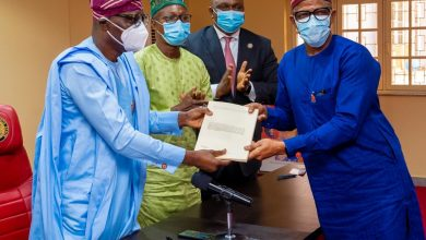 Photo of GOV. SANWO-OLU SIGNS Y2021 APPROPRIATION BILL INTO LAW AT LAGOS HOUSE, MARINA, ON THURSDAY, DECEMBER 31, 2020