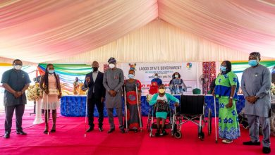 Photo of GOV. SANWO-OLU, FIRST LADY AT INTERACTIVE SESSION WITH PEOPLE LIVING WITH DISABILITIES AT LAGOS HOUSE, MARINA, ON WEDNESDAY, DECEMBER 30, 2020