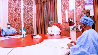 Photo of GOV. SANWO-OLU MEETS WITH PRESIDENT BUHARI AT ASO VILLA, ABUJA, ON THURSDAY, JANUARY 7, 2021