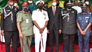 Photo of GOV. SANWO-OLU AT PASSING OUT PARADE OF 1,250 COMMUNITY POLICING SPECIAL CONSTABULARY OFFICERS AT THE POLICE COLLEGE, IKEJA, ON TUESDAY, JANUARY 5, 2021