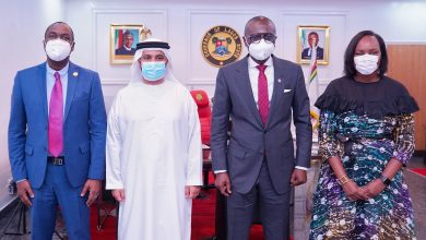 Photo of GOVERNOR SANWO-OLU MEETS WITH U.A.E CONSULATE GENERAL, DR. ABDULLA ALMANDOOS AT LAGOS HOUSE, IKEJA, ON TUESDAY, MARCH 2, 2021