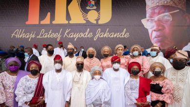 Photo of GOV. SANWO-OLU AT A DAY OF TRIBUTE IN CELEBRATION OF LIFE AND TIMES OF ALHAJI LATEEF JAKANDE AT THE MOBOLAJI JOHNSON ARENA, ONIKAN STADIUM, ON WEDNESDAY, MARCH 17, 2021