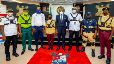 Photo of GOV. SANWO-OLU LAUNCHES THE USE OF BODY WORN CAMERAS BY OFFICERS OF THE STATE'S LAW ENFORCEMENT OUTFITS AT THE BANQUET HALL, LAGOS HOUSE, IKEJA ON WEDNESDAY, MARCH 31, 2021