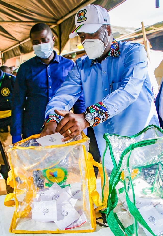 LG ELECTIONS: HAMZAT VOTES, CALLS ON NIGERIANS TO BE PART OF ELECTORAL PROCESS