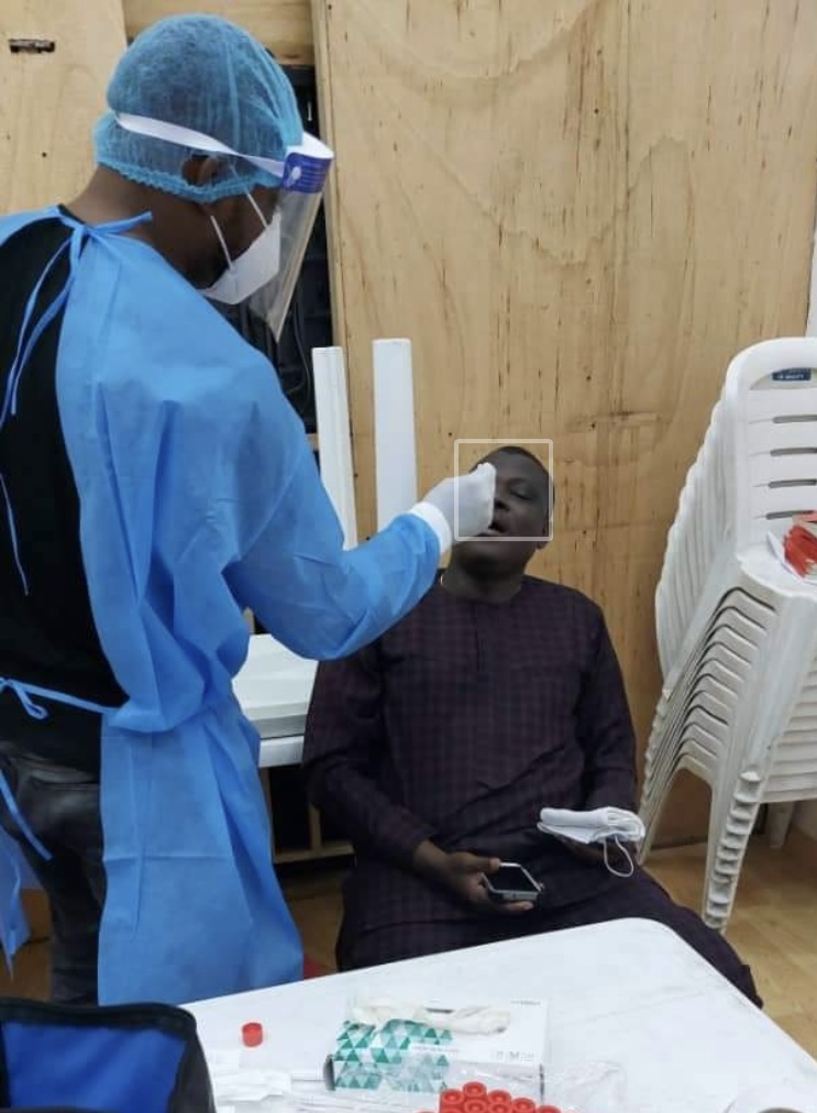 COVID-19 TESTS PERFORMED ON LAGOS CHRISTIAN PILGRIMS