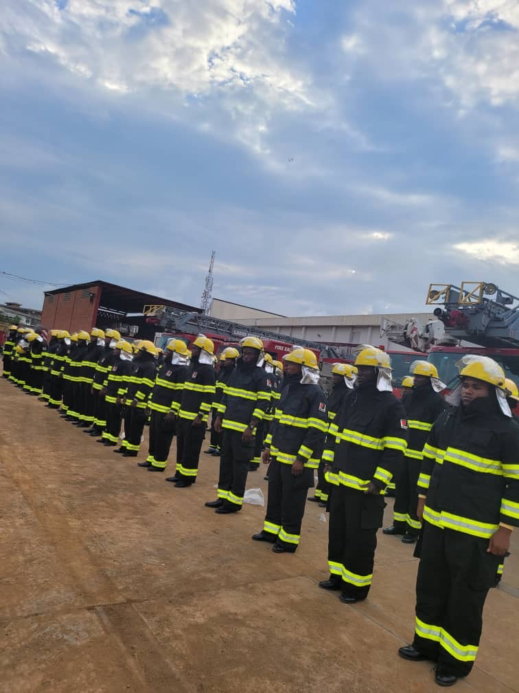 Lagos Trains, Equips 100 Newly Recruited Firefighters