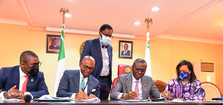 Photos: Gov.Sanwo-Olu Signing Lagos State Green Bond Issuance MoU